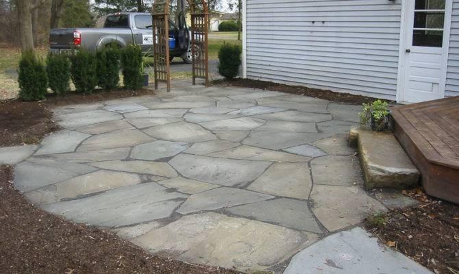 More Stone Patio Natural Flagstone Patios Pavers