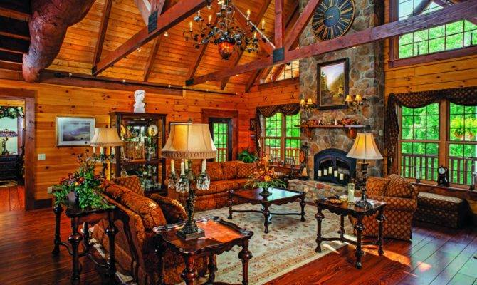 More Than Great Log Home Rooms