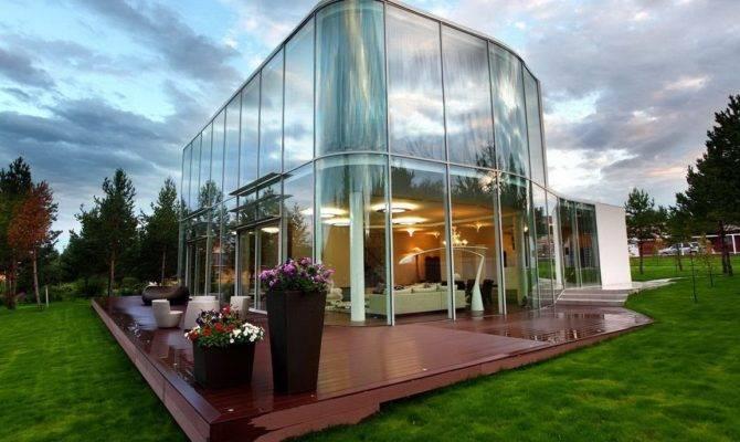 Most Unique Design Modern Glass House