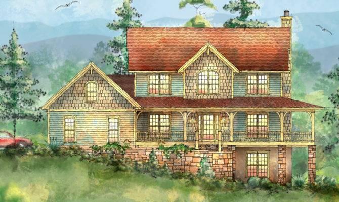 Mountain Home Wrap Around Porch Floor