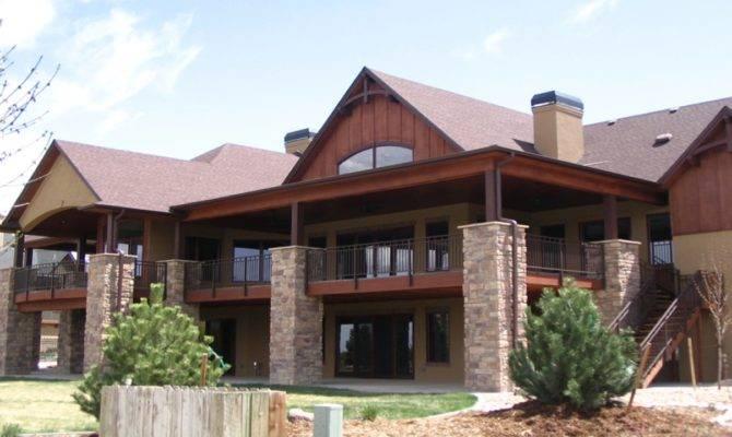 Mountain House Plans Walkout Basement Ranch