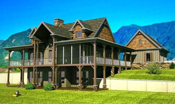 Mountain House Plans Walkout Basement