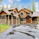 Mountain Luxury Home Stone Wood Exterior