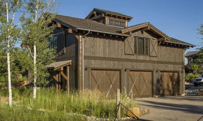 Mountain Timber Frame Garage Guest House Rocky