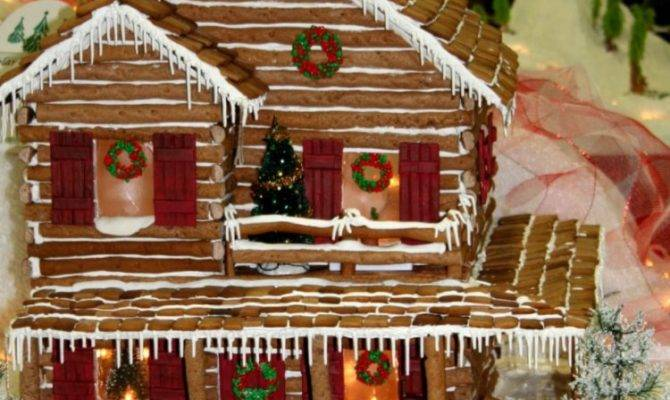 Mountain Time Christmas Gingerbread House Story Lodge