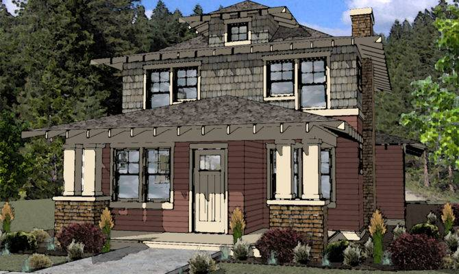 Muddy River Design American Foursquare Style House Plan Bend
