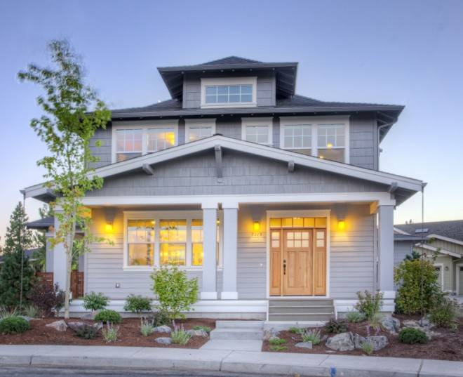 muddy river design foursquare style house plan bend oregon
