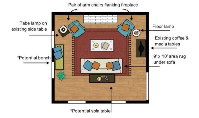 Mueller Living Room Floor Plan