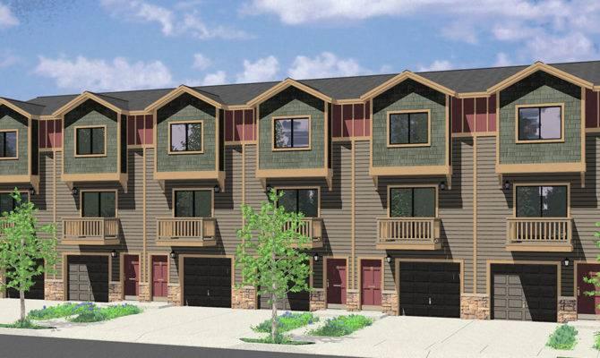Multi House Plans Duplex Triplex