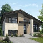 Multi Level Contemporary House Plan Floor