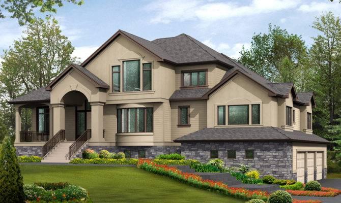 Multi Level House Plan Rustic Charm