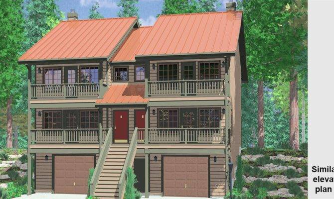 Multi Sloping Lot Plans Hillside Daylight
