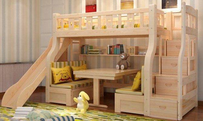 Multifunctional Level Bunk Slide Bed Children