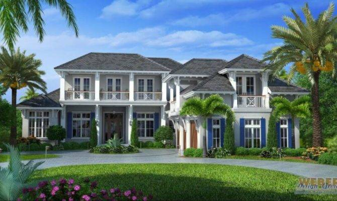 Naples Architecture West Indies Style House Plan