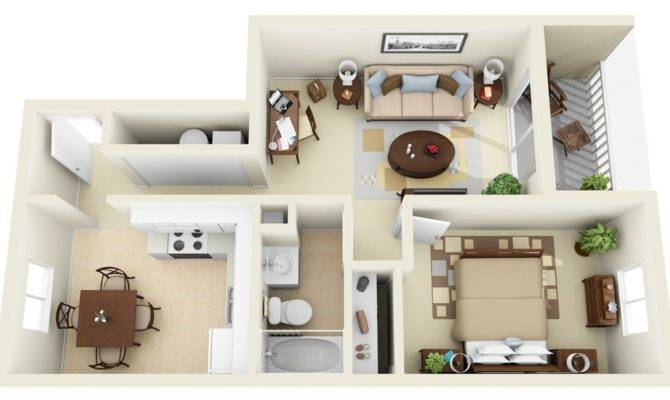 Best Of 27 Images 1 Bedroom Apartment Designs House Plans
