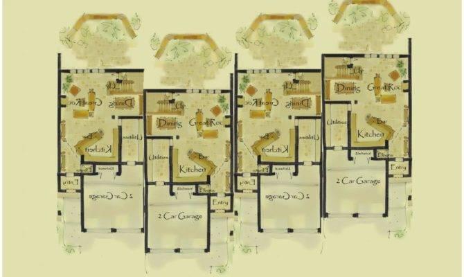 Narrow House Plan Dynasty Floor