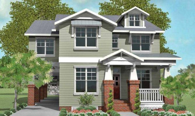 Narrow House Plan Porte Cochere