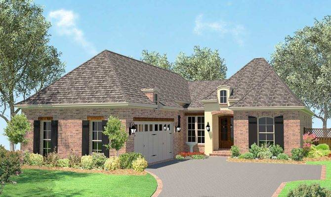 Narrow Lot Acadian House Plan Architectural