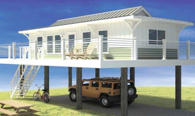 Narrow Lot Beach House Plans Pilings Best