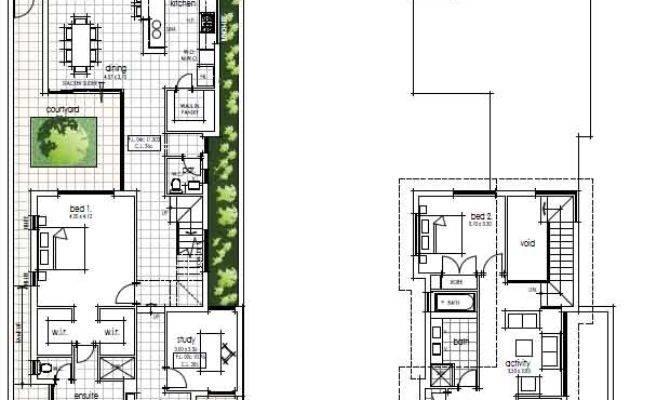 Narrow Lot Building Plans Unique House