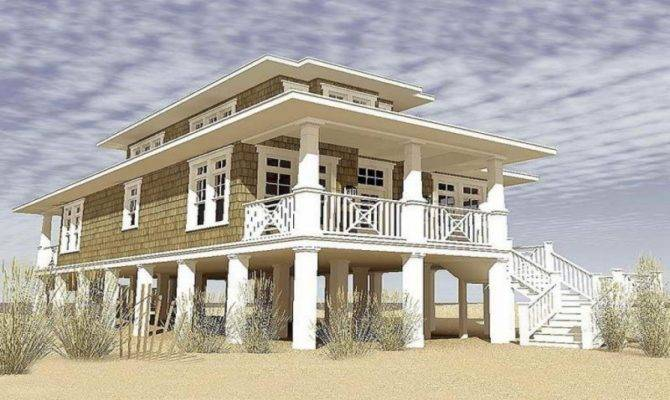 Narrow Lot Cottage House Plans Beach