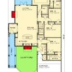 Narrow Lot Courtyard Home Plan Floor