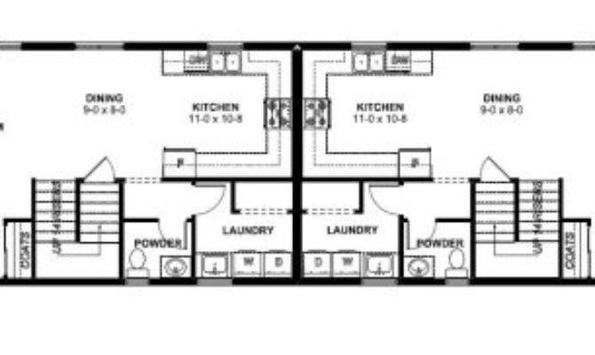 Narrow Lot Duplex House Plan Hunters