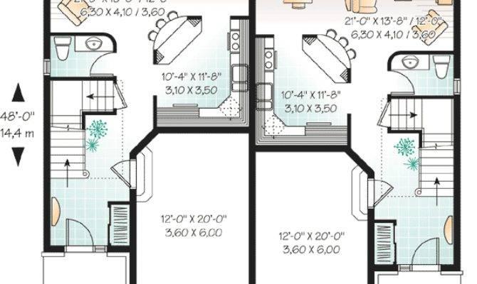 Narrow Lot Duplex House Plans Home Design Style