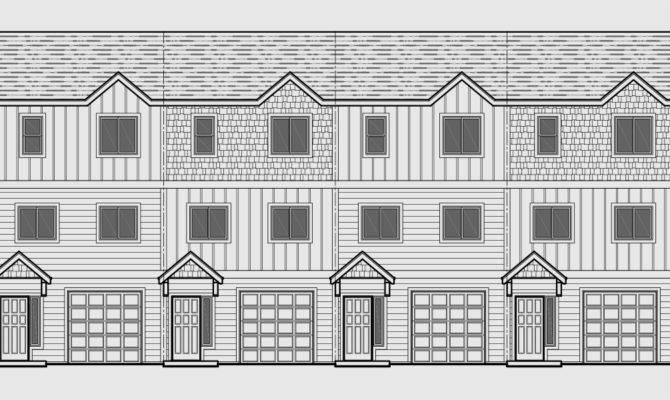 Narrow Lot Duplex House Plans Zero Line