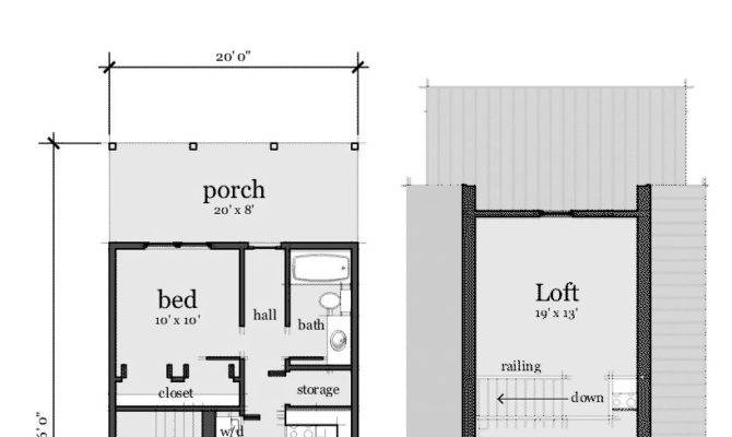Narrow Lot Home Plan Total Living Area