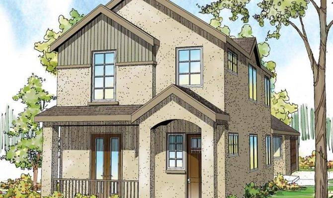 Narrow Lot Home Plans Story House Plan