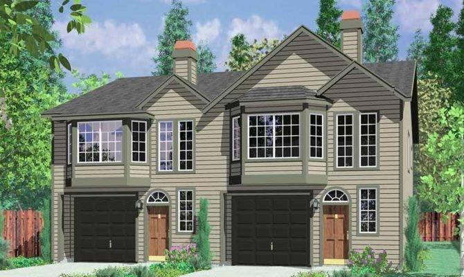 Narrow Lot Homes Plans Reverse Living House Design