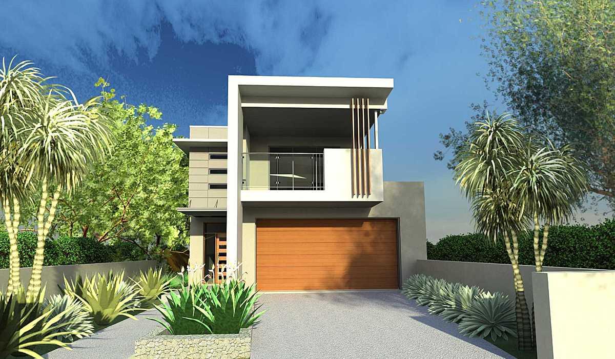 Narrow Lot House Designs Blueprint Archinect House Plans 108409