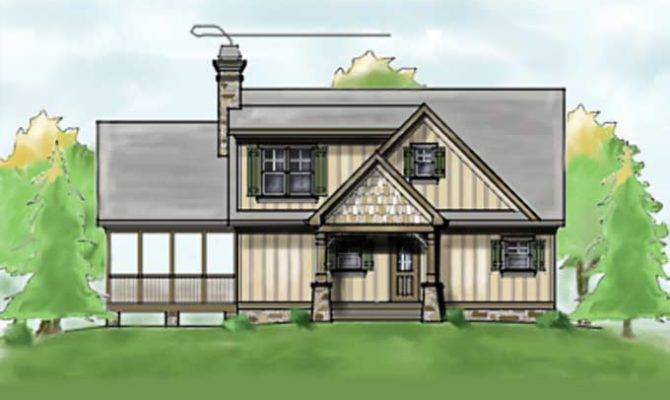 Narrow Lot House Plan Lake Lots Max Fulbright Designs