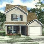 Narrow Lot House Plan Small Home Pinterest