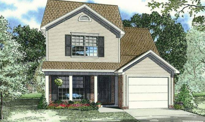 Narrow Lot House Plan Small Home Pinterest
