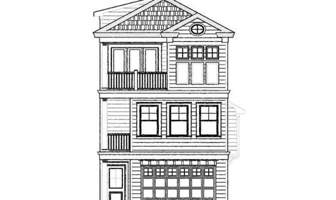 Narrow Lot House Plans Beach Home Plan