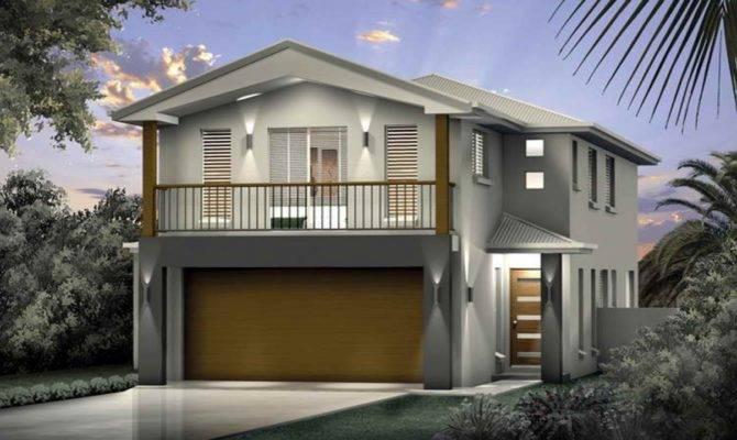 Narrow Lot House Plans Beach