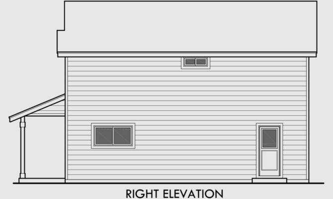 Narrow Lot House Plans Bedroom Story