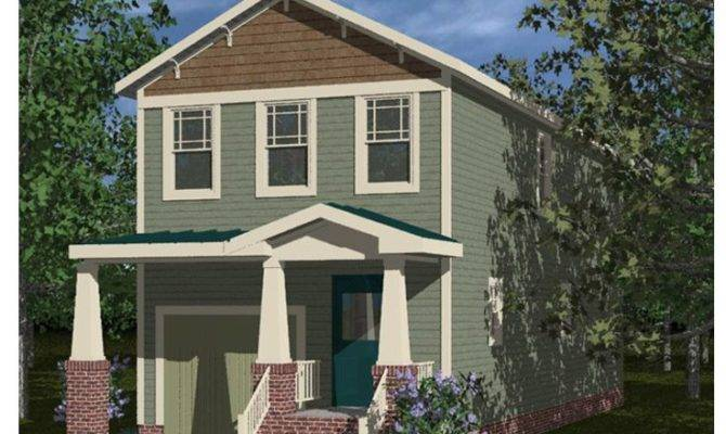 Narrow Lot House Plans Craftsman Style Home Plan