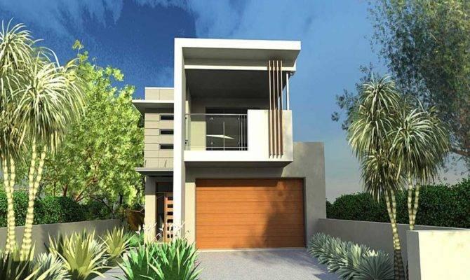 Narrow Lot House Plans Front Garage Plan