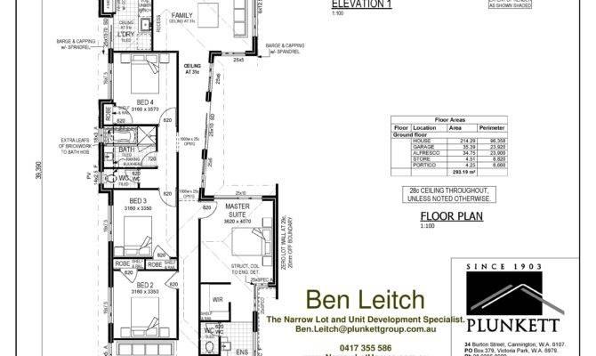 Narrow Lot House Plans Home Design Ideas