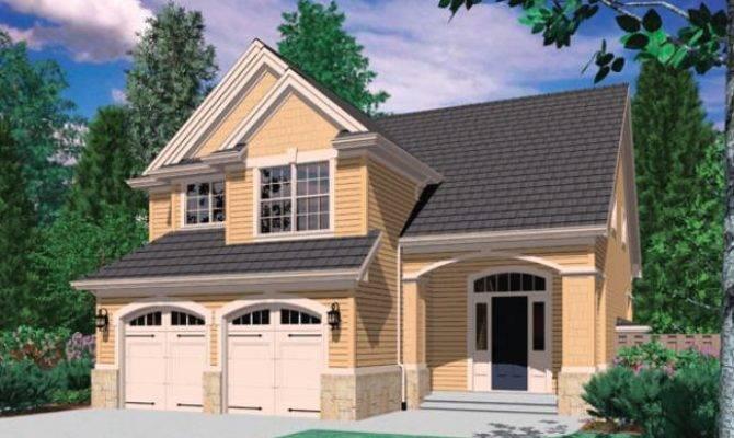 Narrow Lot House Plans Rear Garage Designs