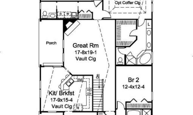 Narrow Lot House Plans Rear Garage Home