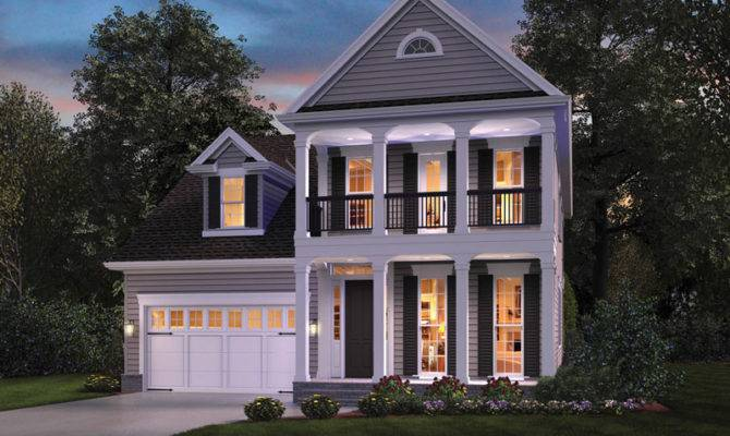 Narrow Lot House Plans Southern Colonial