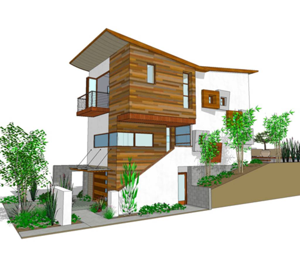 Narrow Lot House Plans Three Story Home Design Style - House Plans ...
