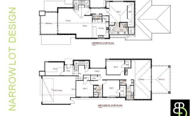 Narrow Lot Luxury House Plans Smalltowndjs