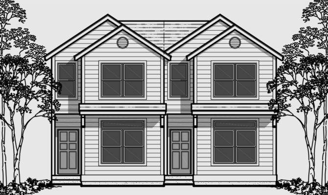 Narrow Lot Sloping House Plans