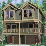 Narrow Lot Townhouse Plans Duplex House Level