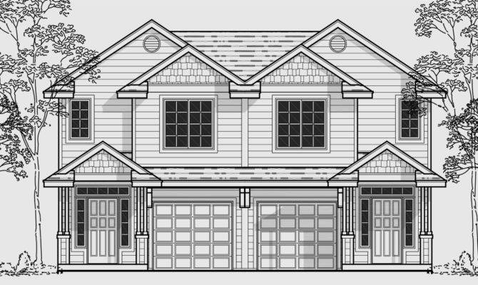 Narrow Two Story Home Plans